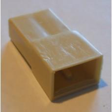 Изолятор пластиковый 2 штекера 2,8мм