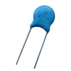 Высоковольтный конденсатор 470pf x2kV
